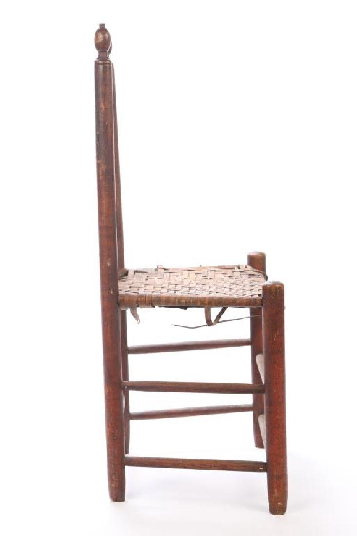 LADDERBACK SIDE CHAIR IN RED WASH - 7