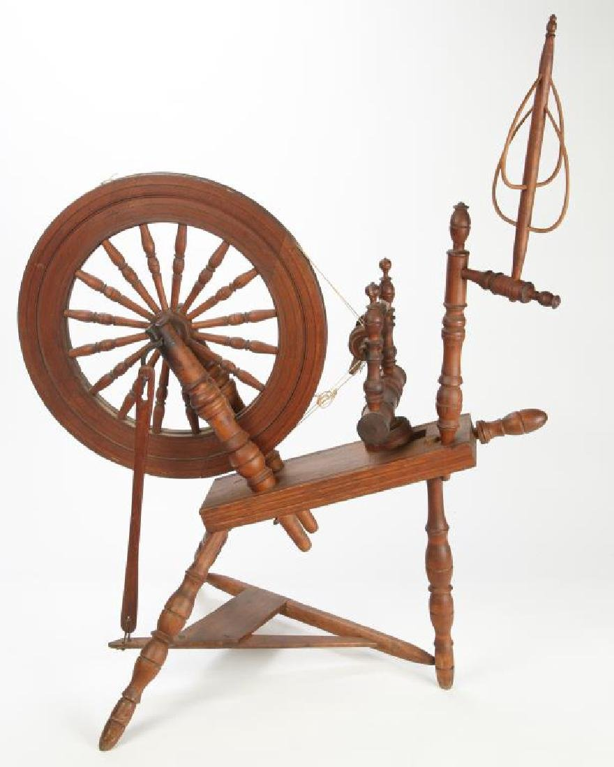EARLY FLAX WHEEL in WORKING CONDITION