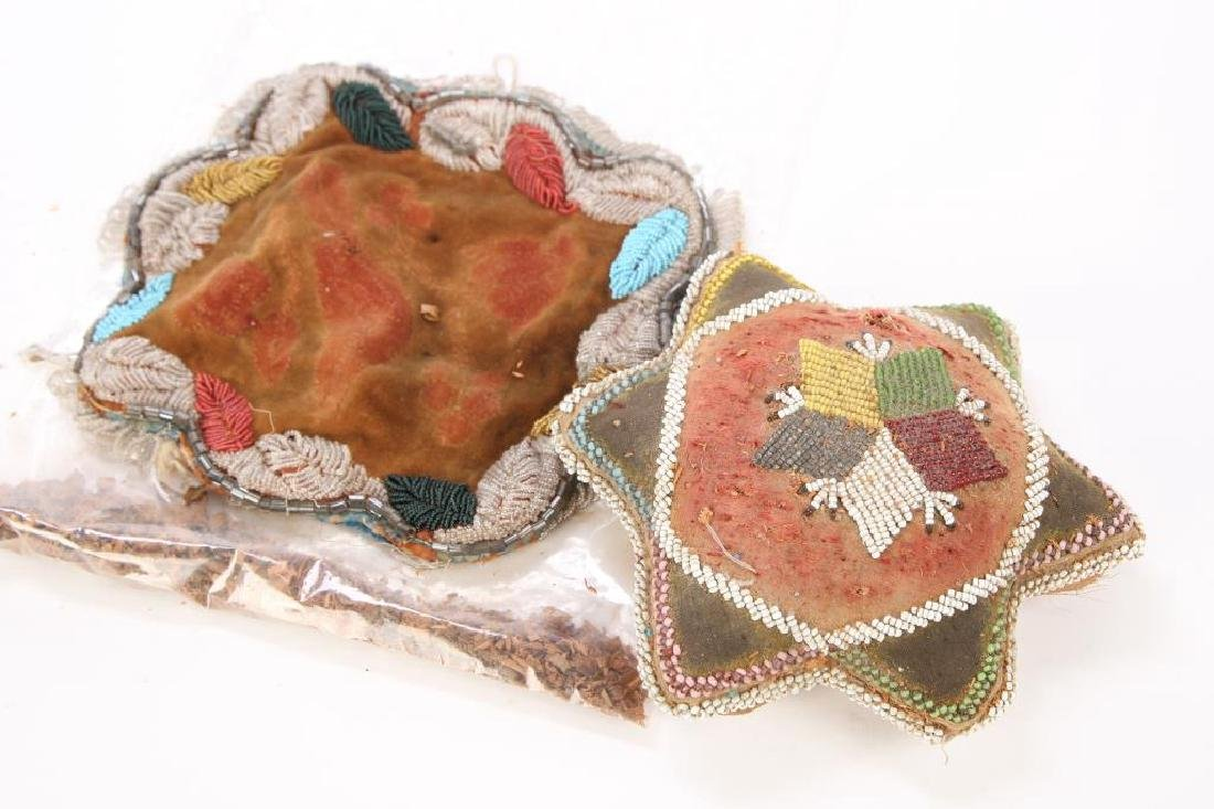 NATIVE AMERICAN BEADED PILLOW AND PILLOW FACE