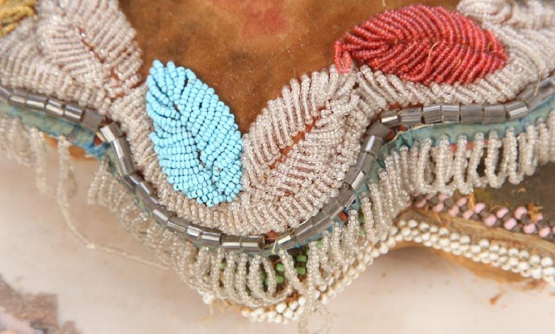 NATIVE AMERICAN BEADED PILLOW AND PILLOW FACE - 5