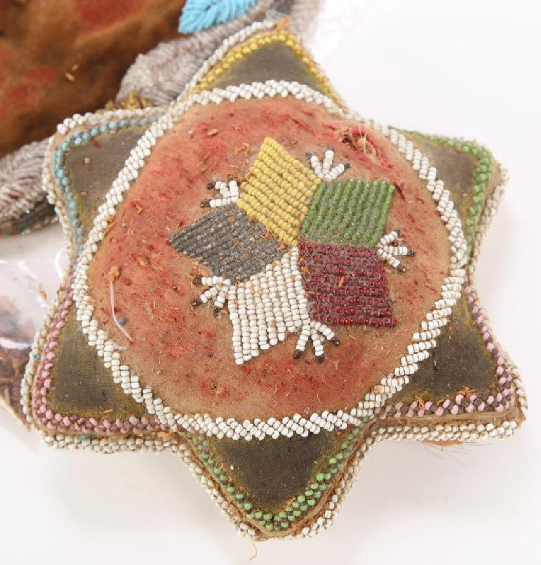NATIVE AMERICAN BEADED PILLOW AND PILLOW FACE - 7