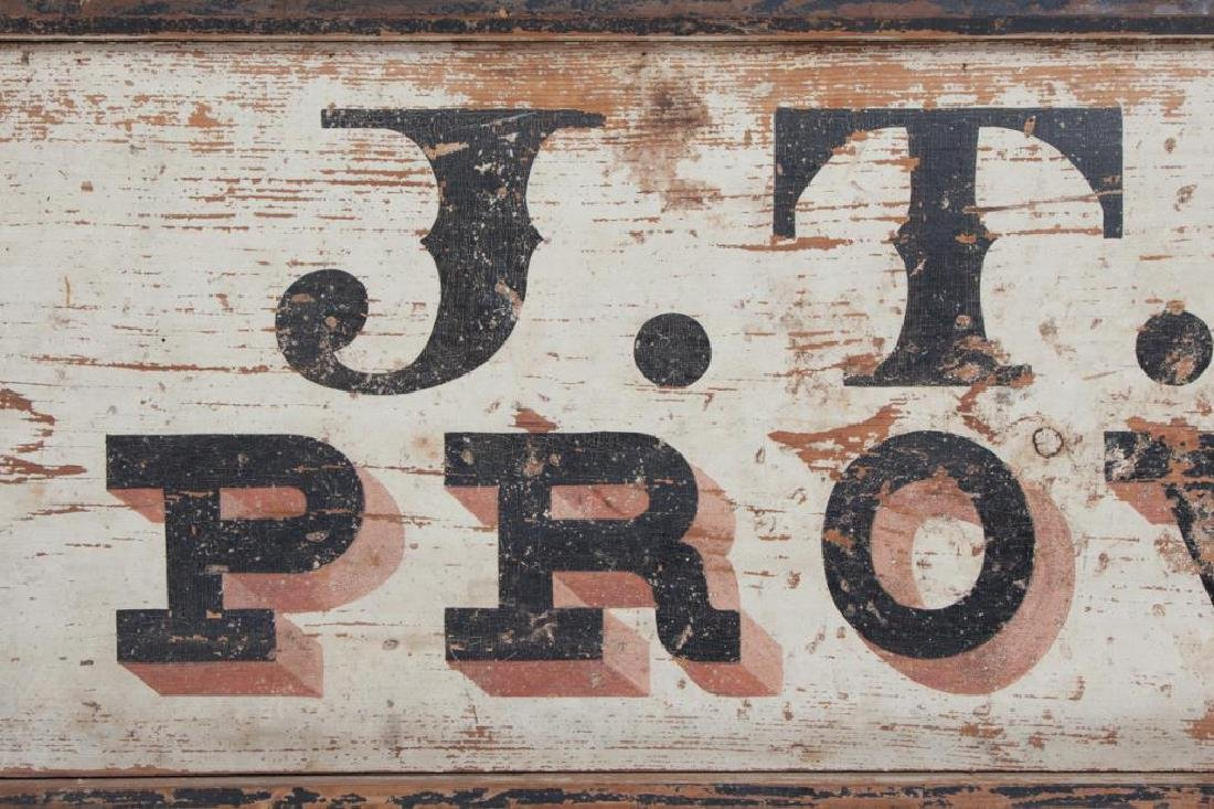 EARLY (19th c) J.T. SMART PROVISIONS NH TRADE SIGN - 3