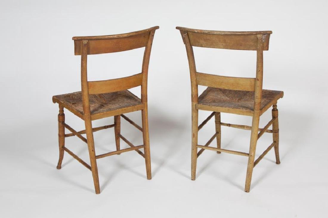 PAIR OF FINELY PAINTED HITCHOCK SIDE CHAIRS - 2