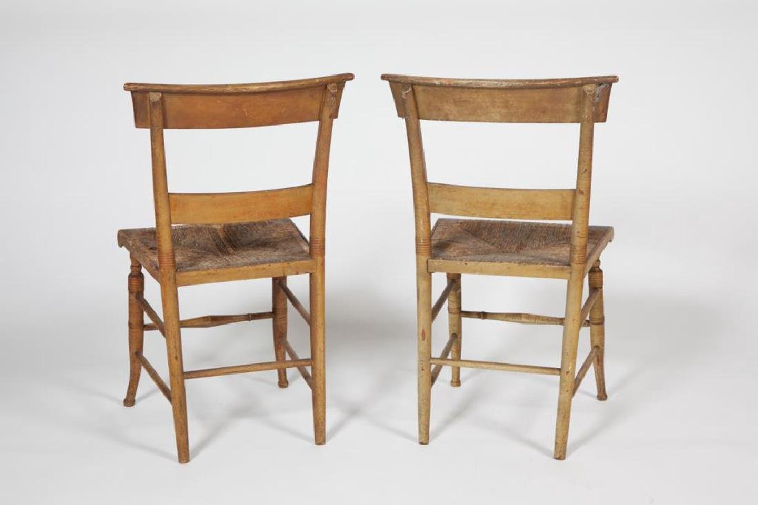 PAIR OF FINELY PAINTED HITCHOCK SIDE CHAIRS - 3