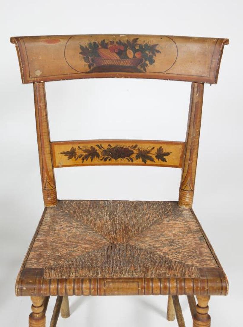 PAIR OF FINELY PAINTED HITCHOCK SIDE CHAIRS - 7