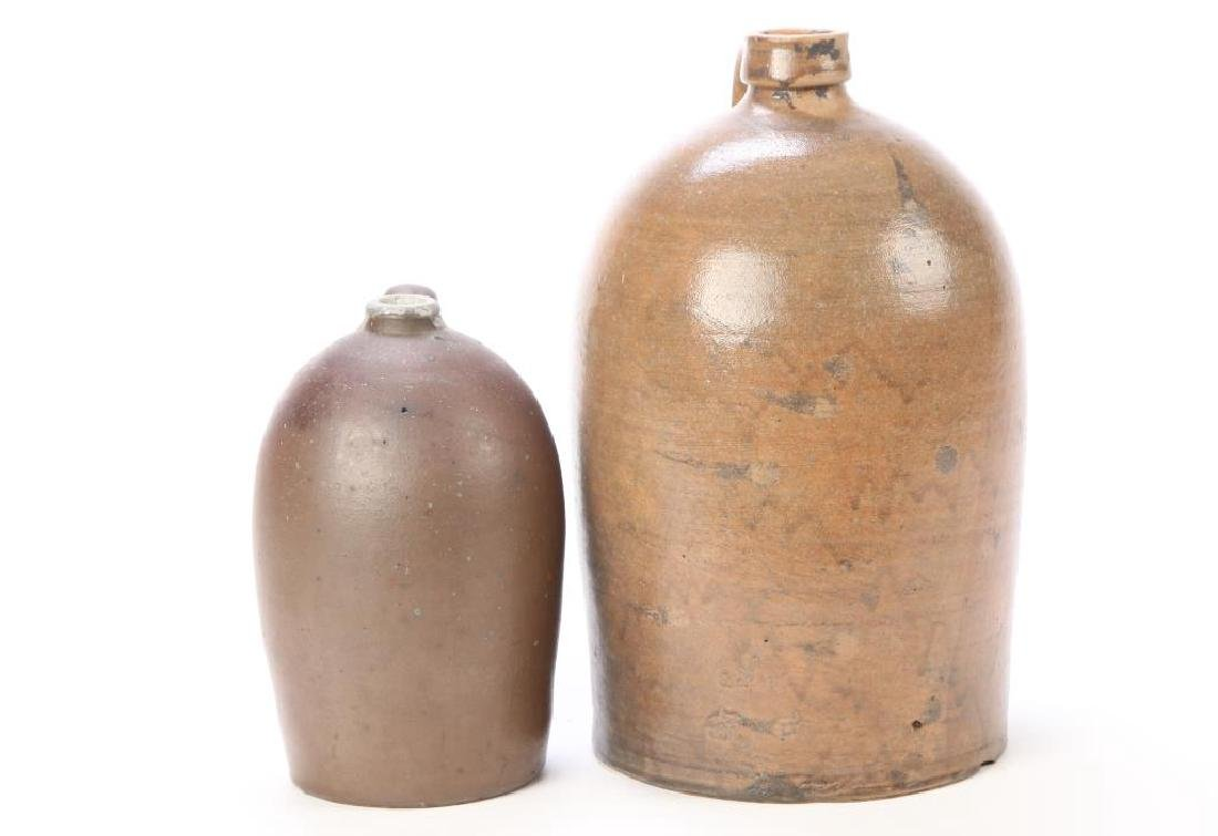 (2) OVOID JUGS with APPLIED HANDLES