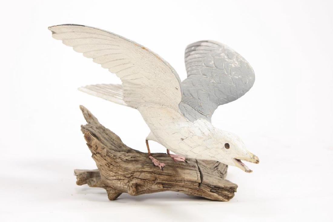 CARVED AND PAINTED HERRING GULL