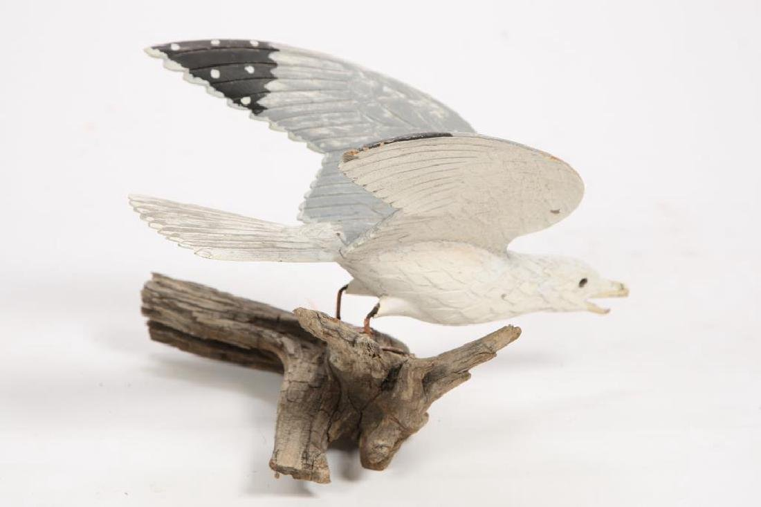 CARVED AND PAINTED HERRING GULL - 7