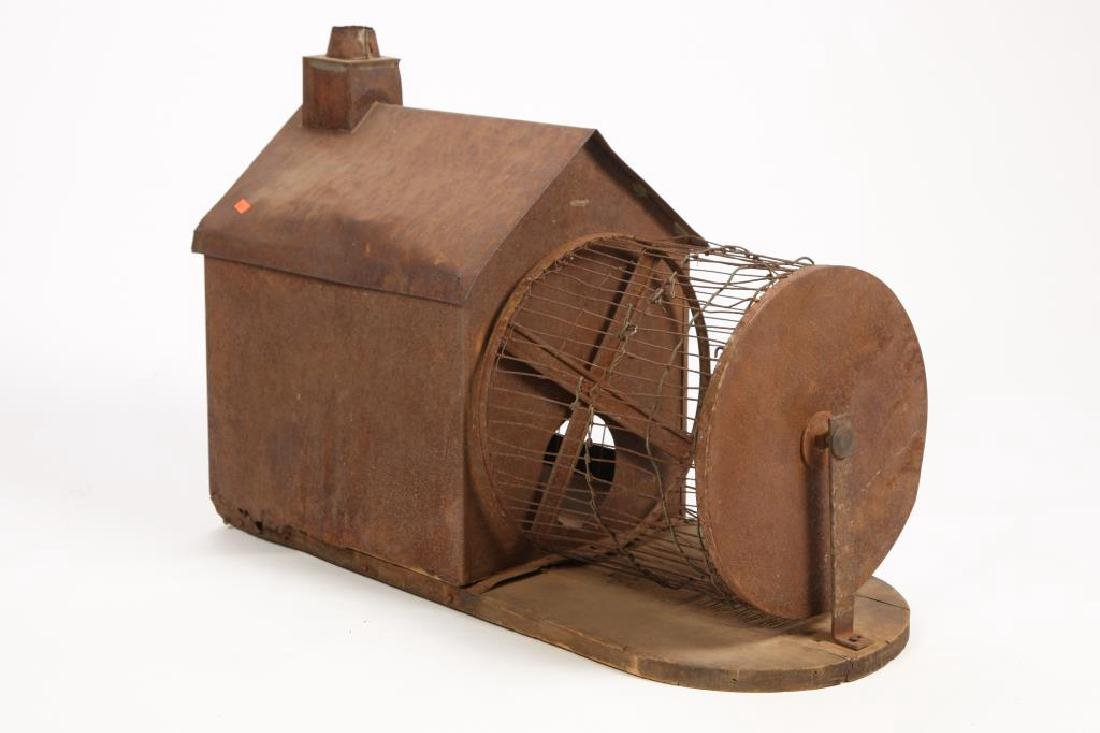 ANTIQUE TIN SQUIRREL HOUSE