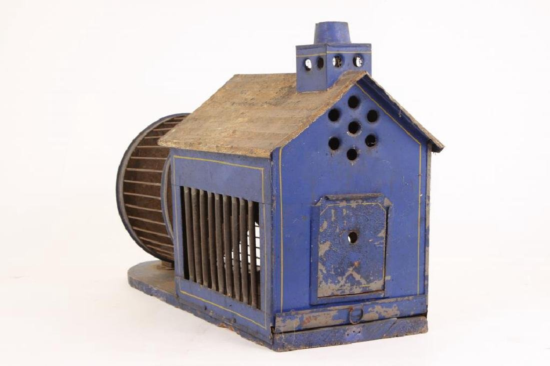 PAINTED TIN AND WIRE SQUIRREL HOUSE - 4
