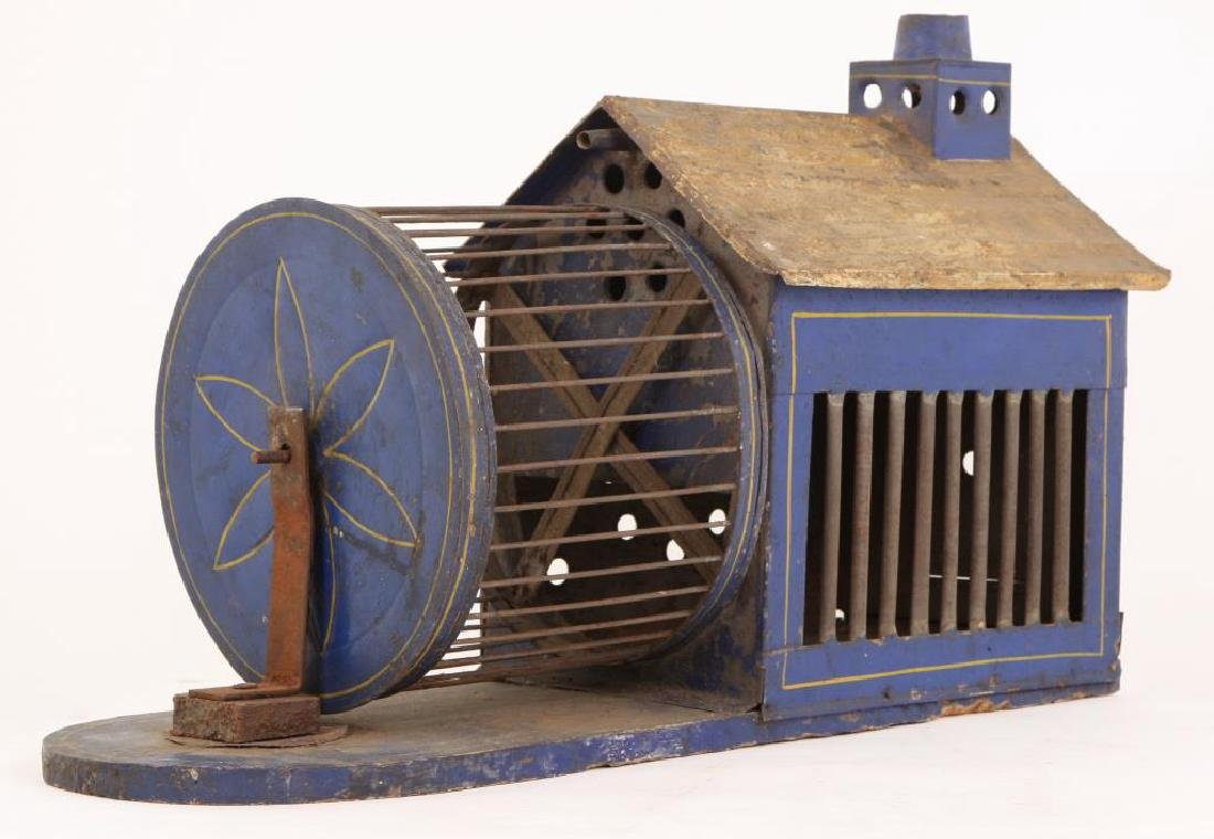 PAINTED TIN AND WIRE SQUIRREL HOUSE - 8
