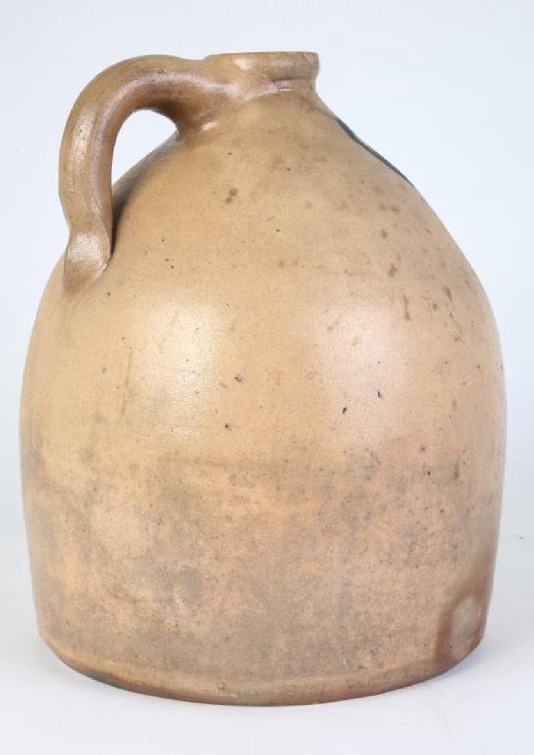 COBALT DECORATED SALT GLAZED STONEWARE JUG - 2