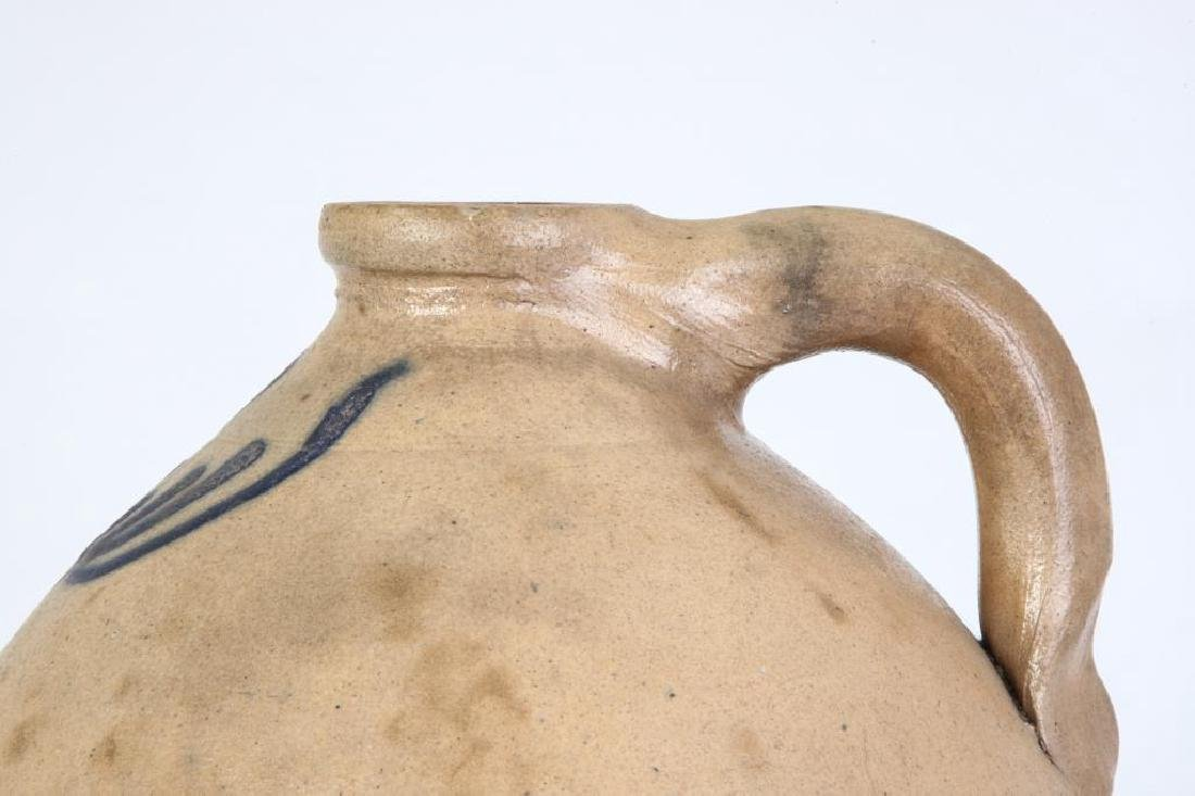 COBALT DECORATED SALT GLAZED STONEWARE JUG - 6