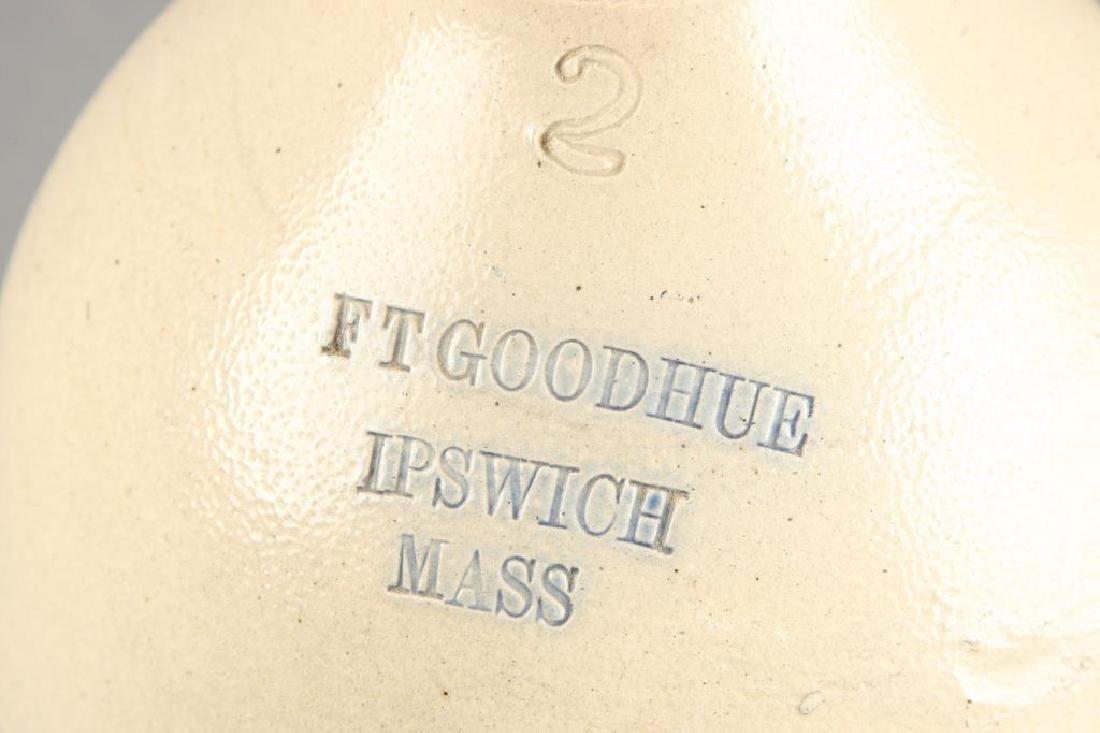FT GOODHUE IPSWICH MA (2) GALLON STONEWARE JUG - 3