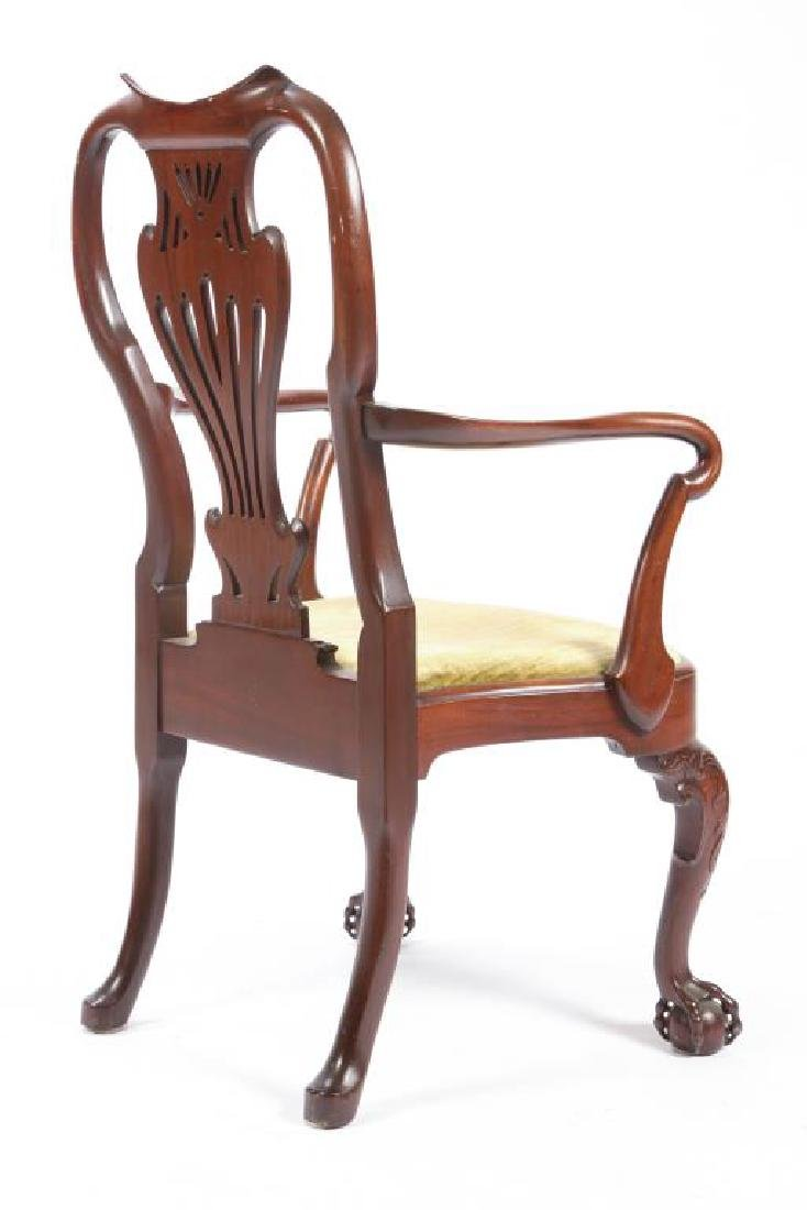 FINELY CARVED CENTENNIAL MAHOGANY ARMCHAIR - 2