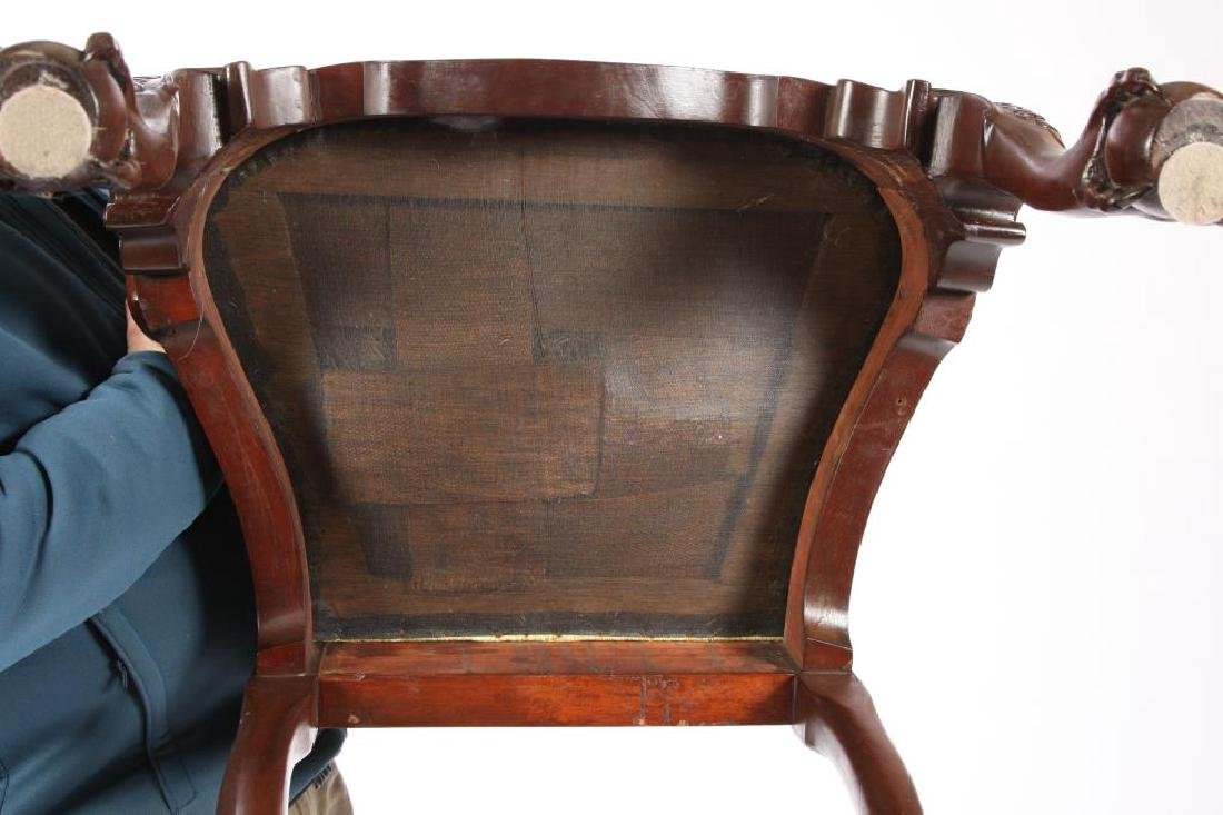 FINELY CARVED CENTENNIAL MAHOGANY ARMCHAIR - 3