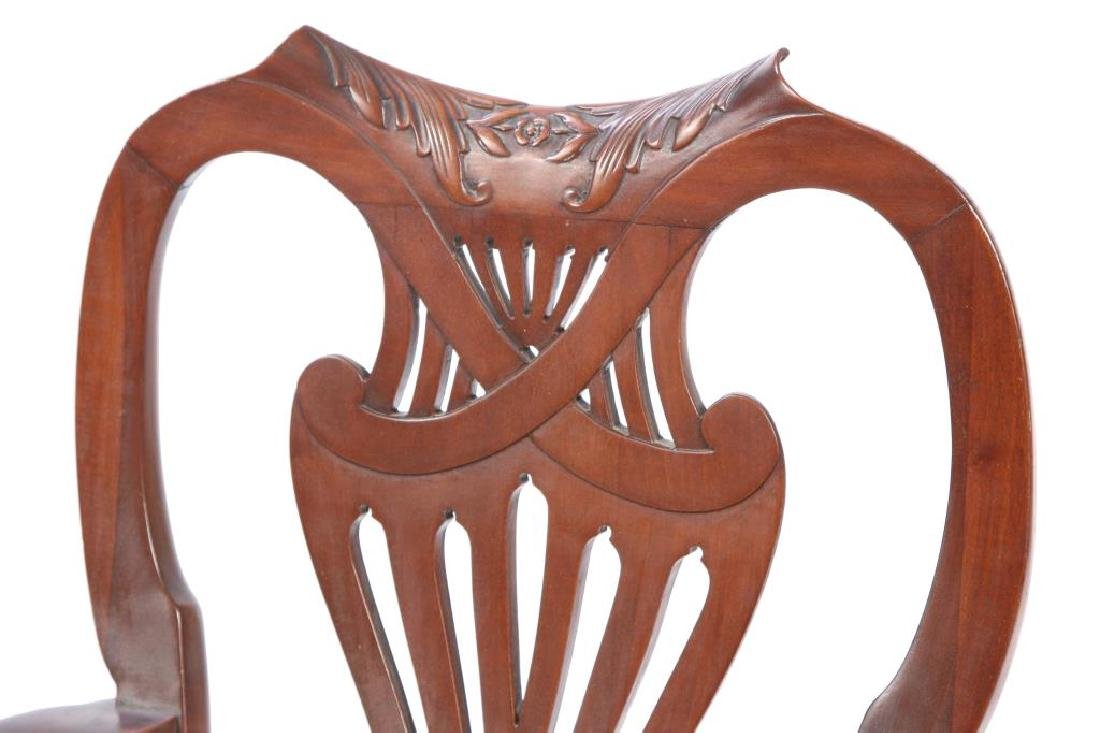 FINELY CARVED CENTENNIAL MAHOGANY ARMCHAIR - 4