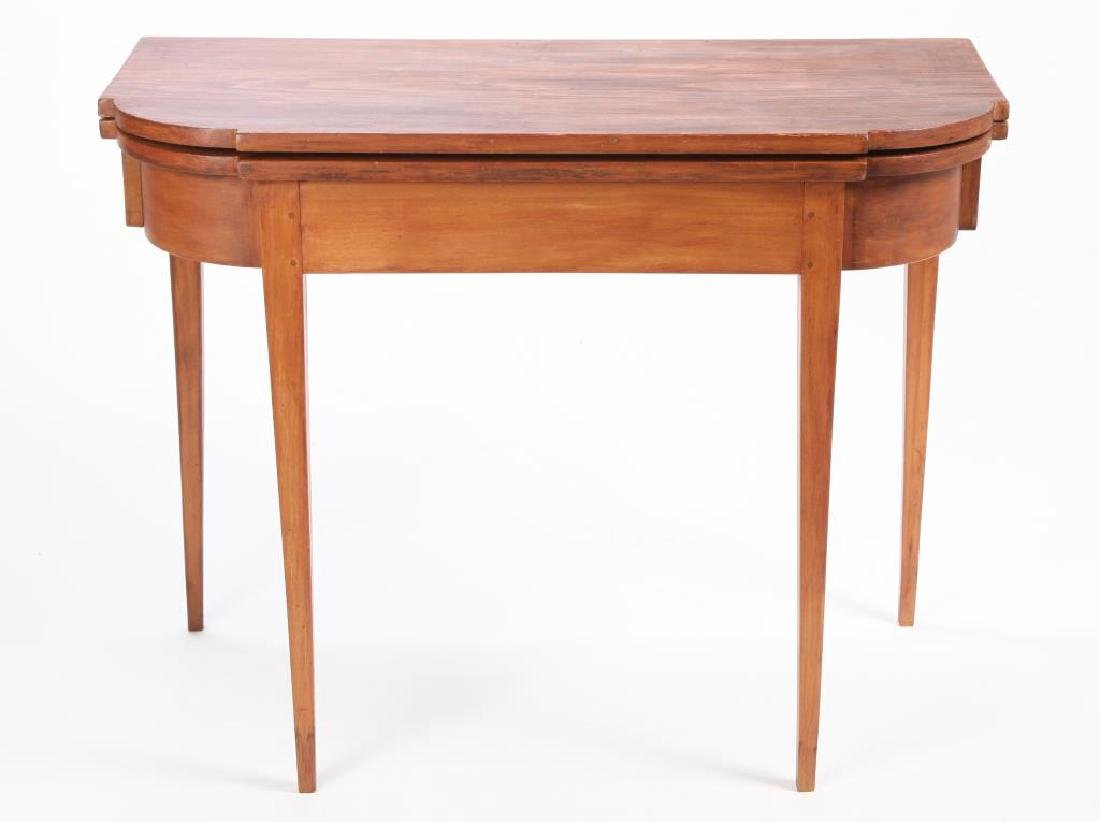 HEPPLEWHITE CHERRY AND PINE CARD TABLE