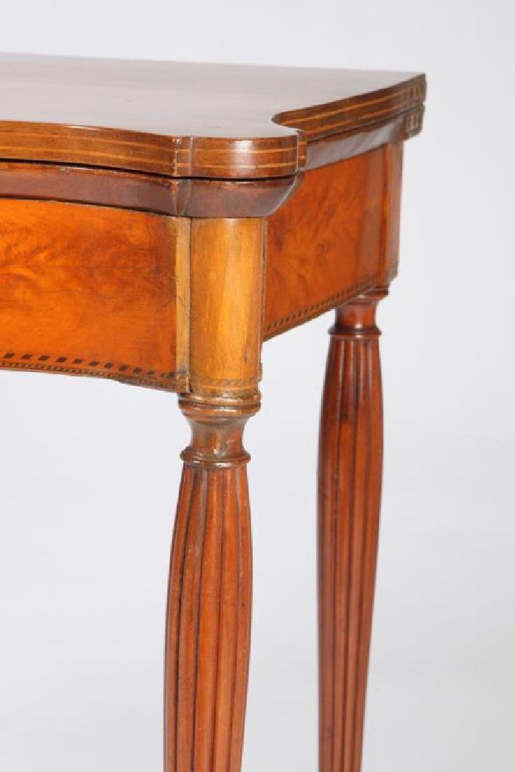 FEDERAL FLAMING BIRCH and MAHOGANY CARD TABLE - 3