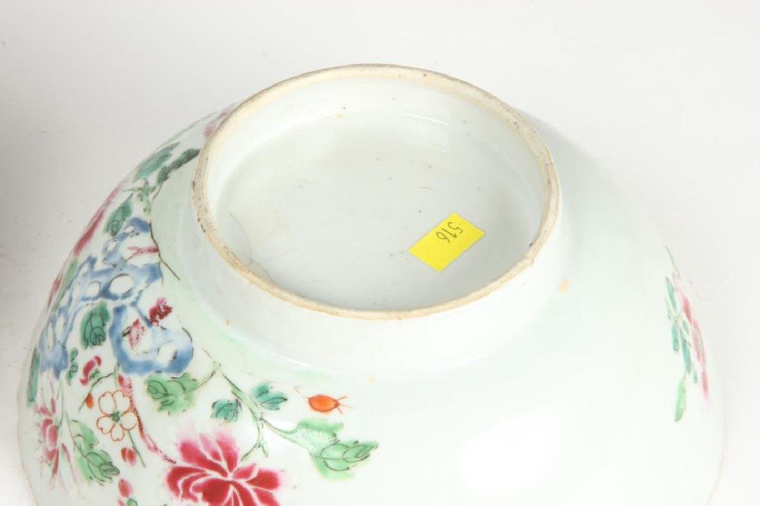 (2) CHINESE EXPORT PORCELAIN PUNCH BOWLS - 2
