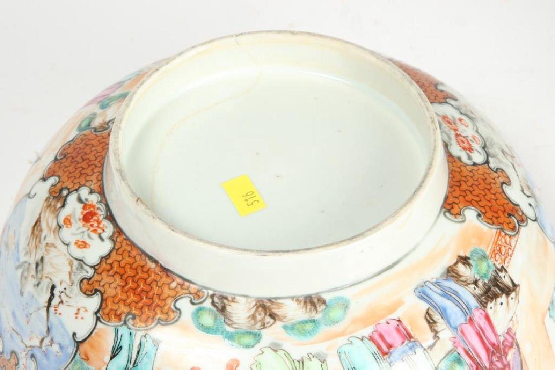 (2) CHINESE EXPORT PORCELAIN PUNCH BOWLS - 3