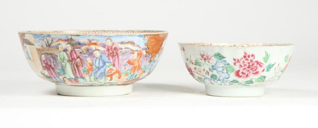 (2) CHINESE EXPORT PORCELAIN PUNCH BOWLS - 4