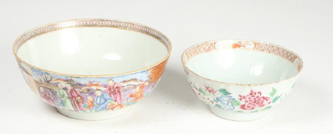 (2) CHINESE EXPORT PORCELAIN PUNCH BOWLS - 5