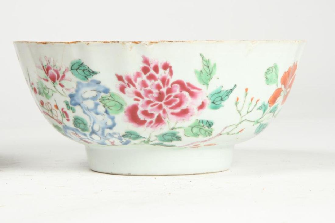 (2) CHINESE EXPORT PORCELAIN PUNCH BOWLS - 7