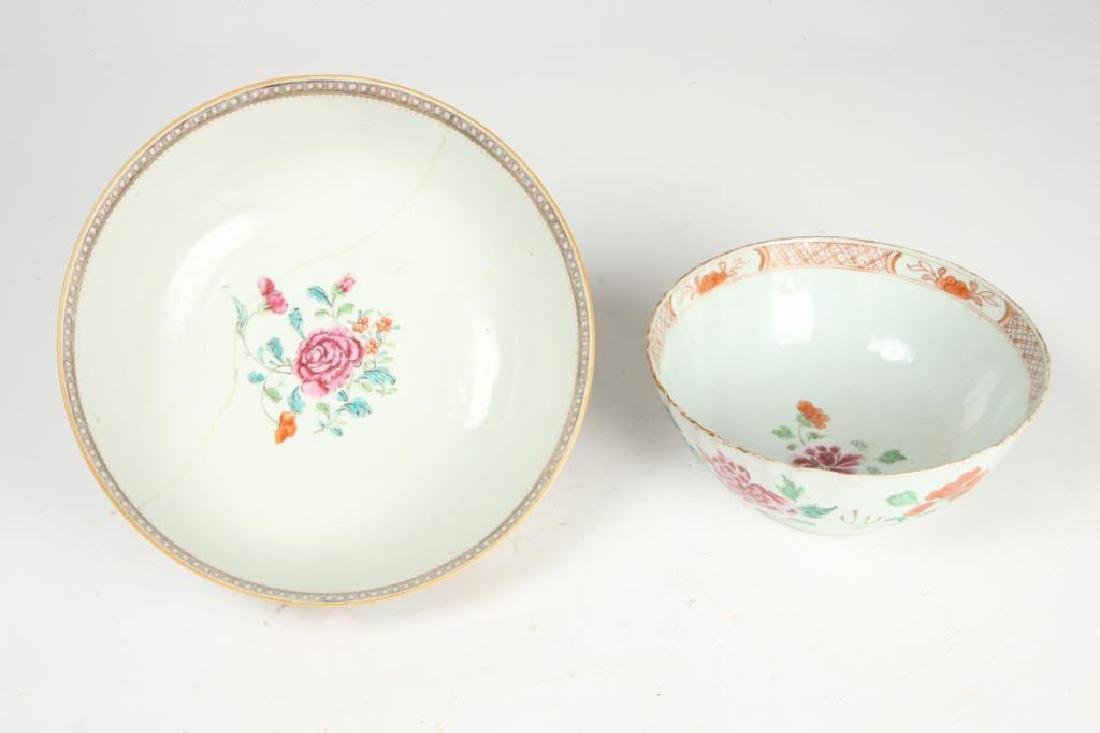 (2) CHINESE EXPORT PORCELAIN PUNCH BOWLS - 8