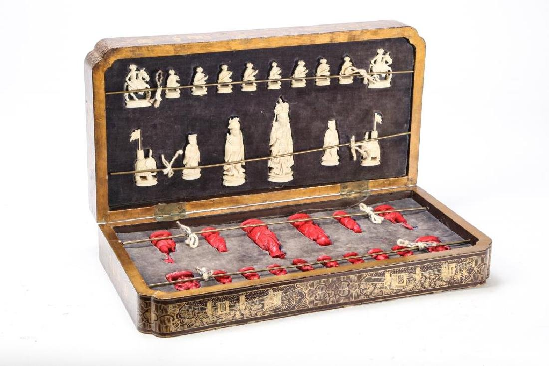 ANTIQUE CHINESE EXPORT CHESS SET