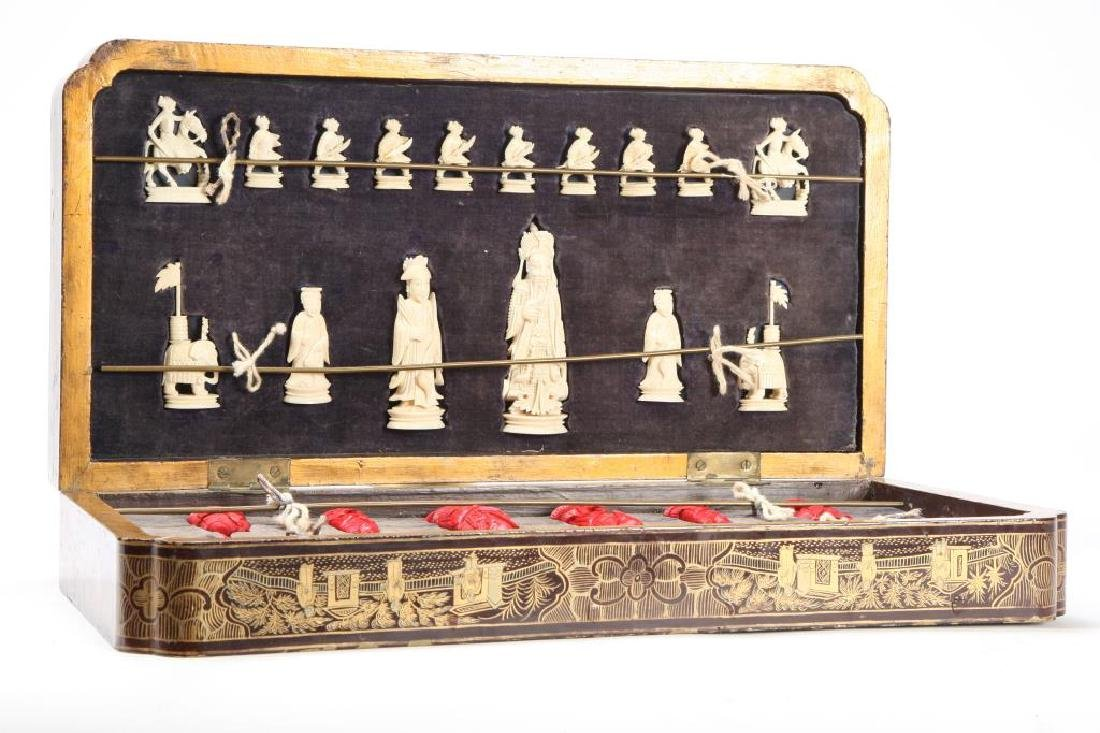 ANTIQUE CHINESE EXPORT CHESS SET - 7
