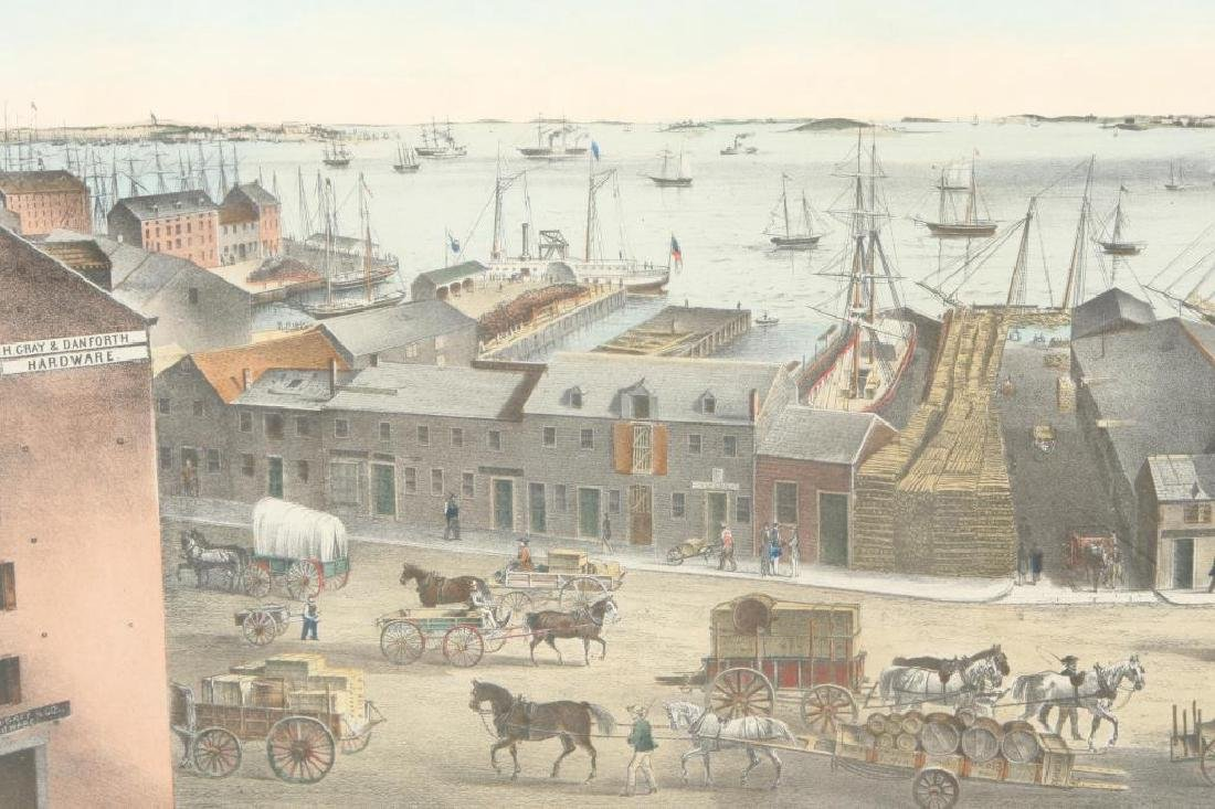 """""""BOSTON HARBOR, 1854"""" LITHOGRAPH after JH Bufford - 2"""
