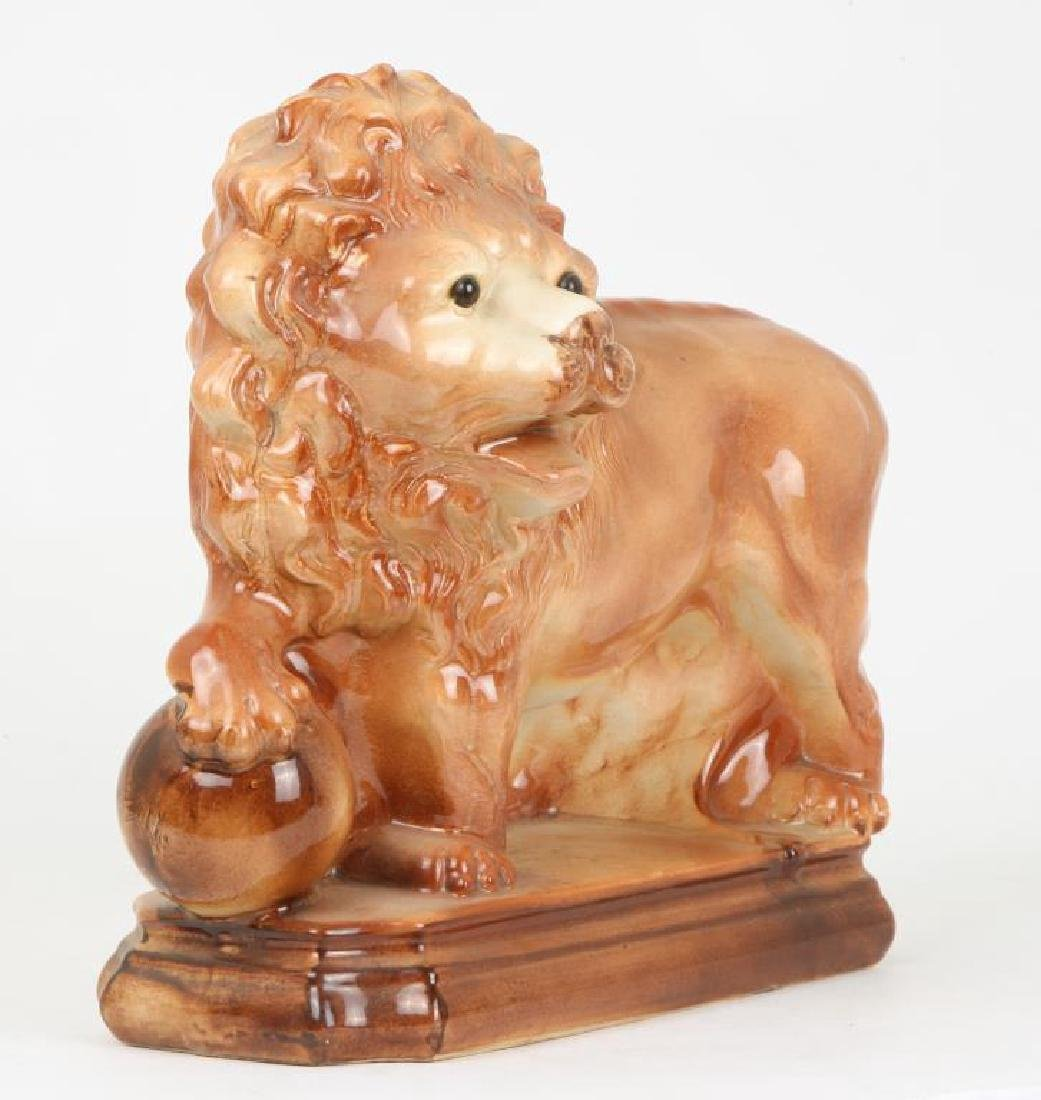 (19th c) CERAMIC LION POSSIBLY STAFFORDSHIRE - 2