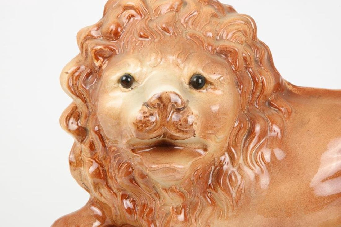 (19th c) CERAMIC LION POSSIBLY STAFFORDSHIRE - 3