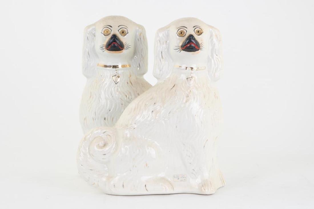 LARGE PAIR OF STAFFORDSHIRE DOGS - 3