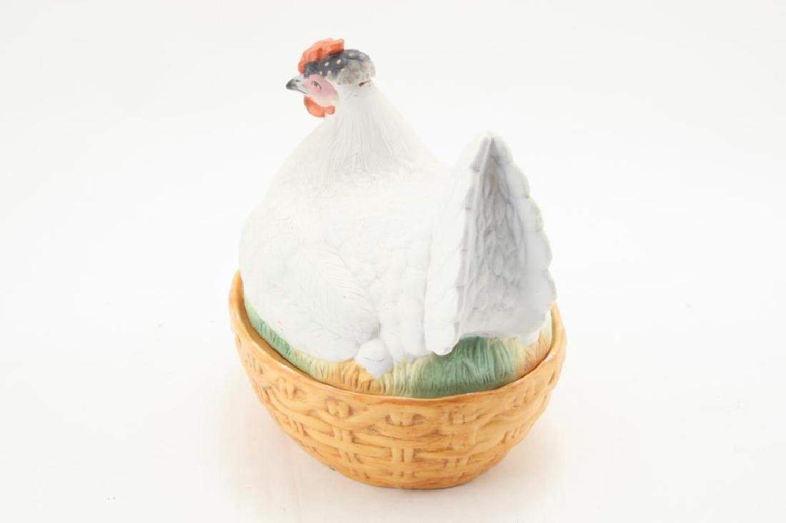BISQUE HEN ON NEST - 6