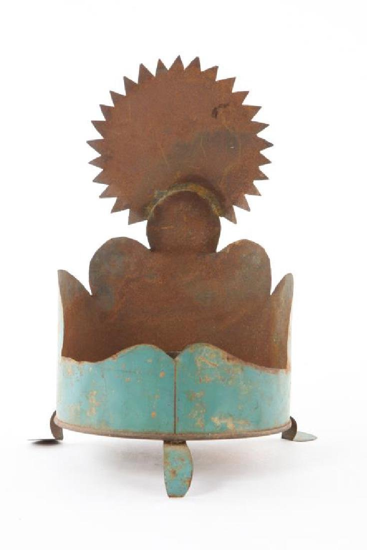 SNIPPED AND PAINTED FOLK ART TIN SCONCE