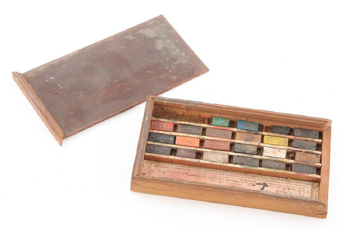 GEORGE OSBORNE/ PHILADELPHIA WATERCOLOR SET 1826 - 3