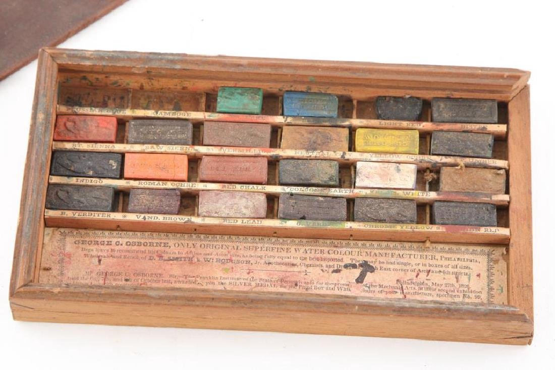 GEORGE OSBORNE/ PHILADELPHIA WATERCOLOR SET 1826 - 4