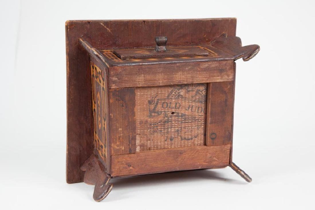 INLAID SEWING BOX with PIN CUSHION & DRAWER c 1900 - 2