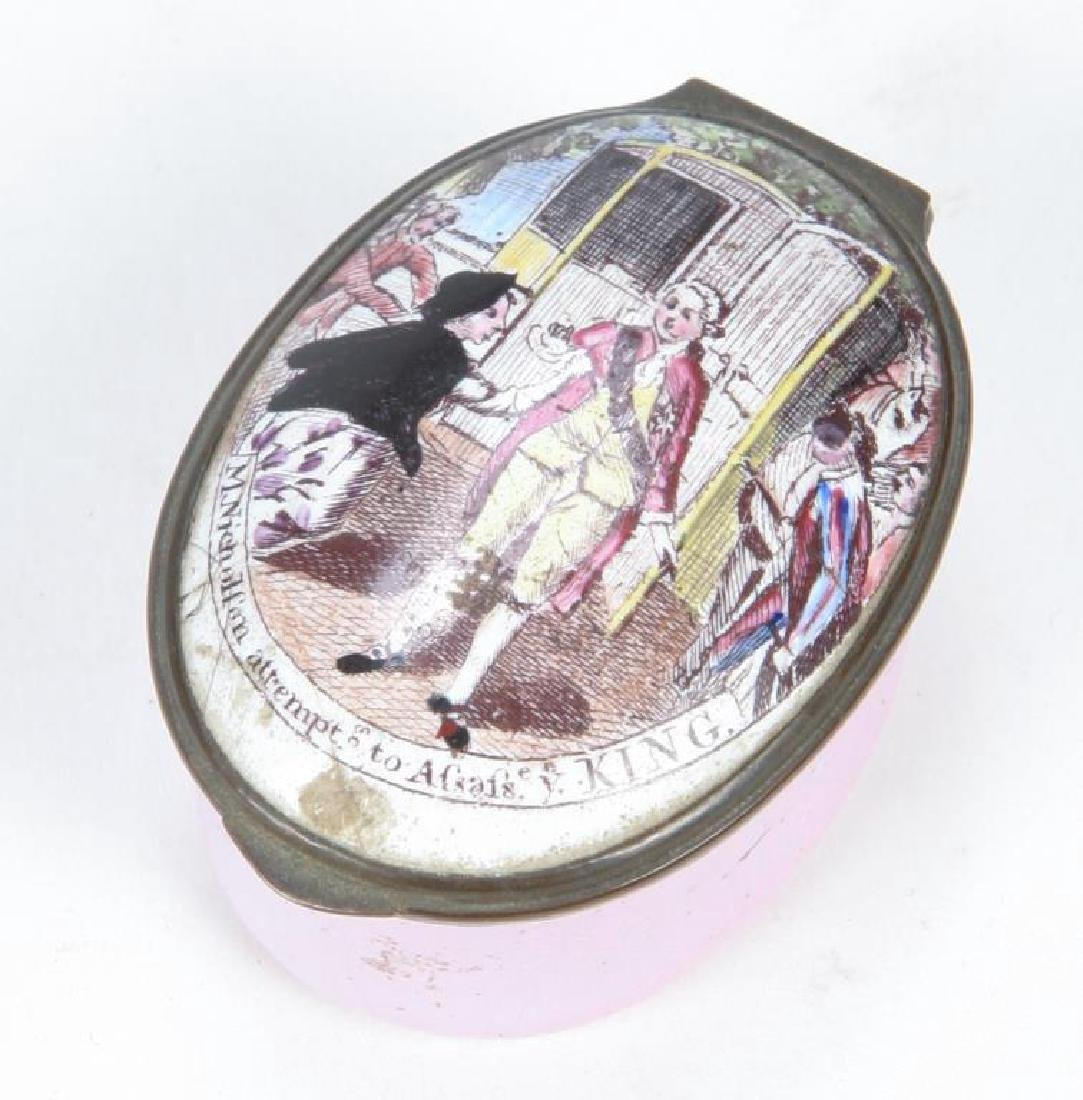 (18th c) BATTERSEA ENAMEL BOX