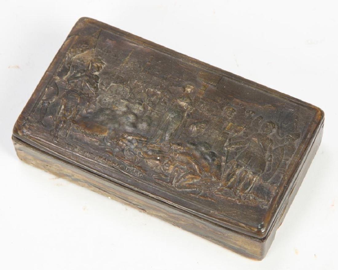 """DEATH OF JOAN OF ARC"" TORTOISE SHELL SNUFF BOX"