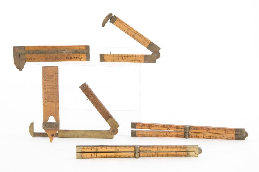(6) EARLY CALIPERS, RULERS AND PLUMB / STANLEY etc