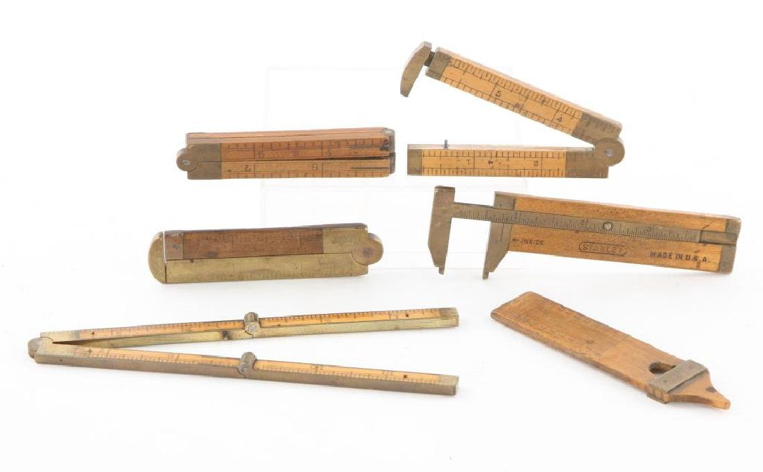 (6) EARLY CALIPERS, RULERS AND PLUMB / STANLEY etc - 2