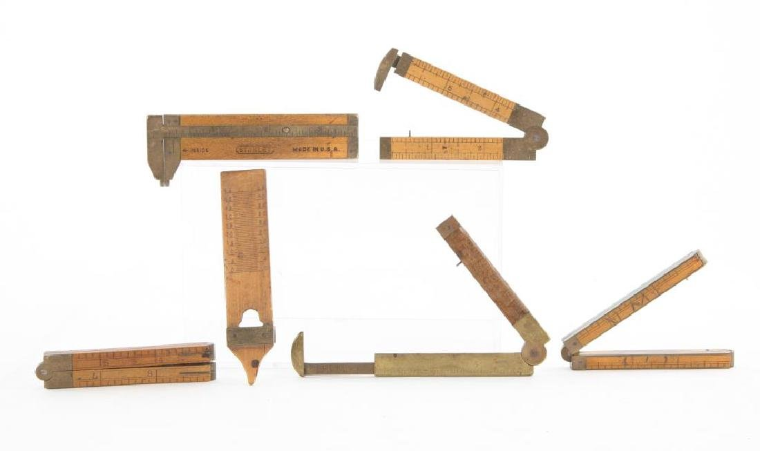 (6) EARLY CALIPERS, RULERS AND PLUMB / STANLEY etc - 6