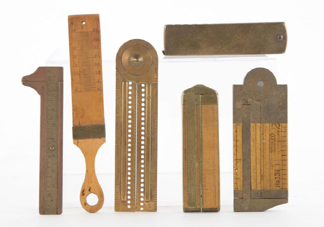 (6) EARLY RULERS, CALIPERS and WIRE GAUGES - 2
