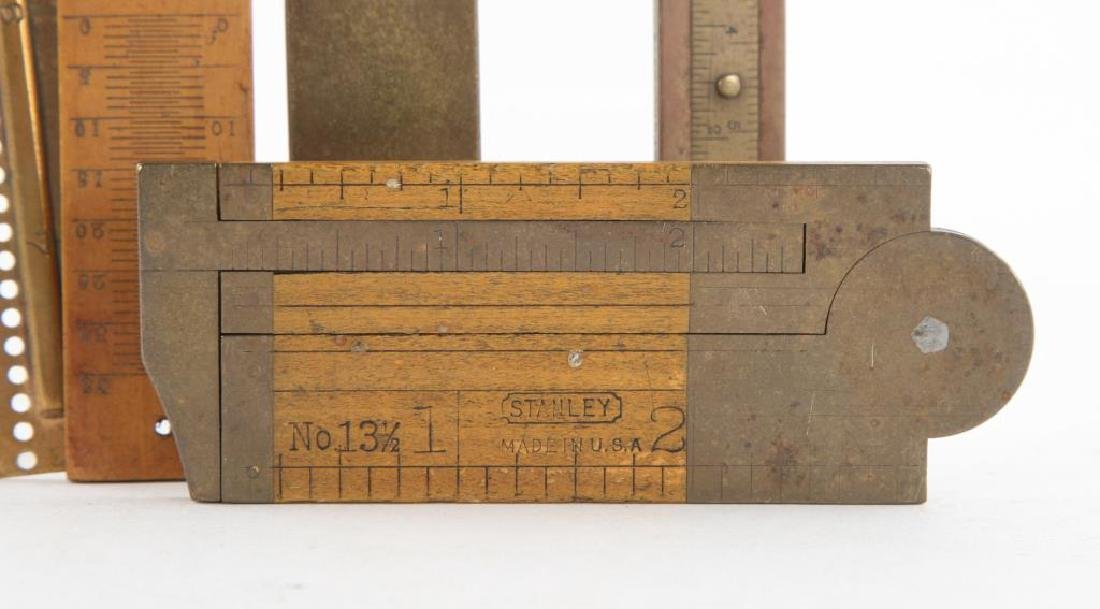(6) EARLY RULERS, CALIPERS and WIRE GAUGES - 4