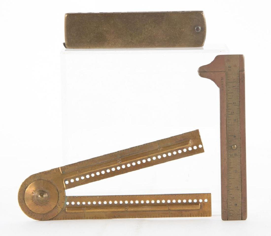 (6) EARLY RULERS, CALIPERS and WIRE GAUGES - 5