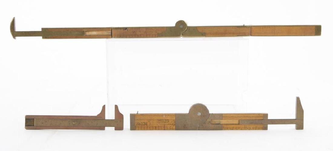 (6) EARLY RULERS, CALIPERS and WIRE GAUGES - 6