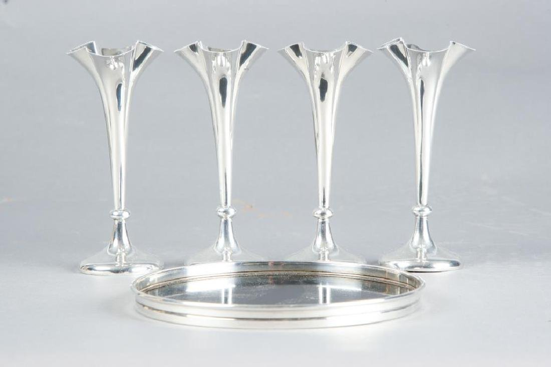 (4) MAPPIN & WEBB STERLING SILVER CORDIAL & TRAY - 2